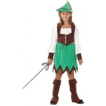 Robin Hood Girl Deluxe Fancy Dress Costume