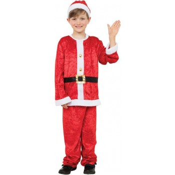 Boys Santa Boy Christmas Fancy Dress Costume