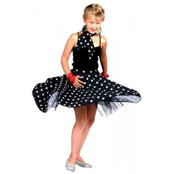 Rock 'N' Roll Skirt. Black Fancy Dress Costume
