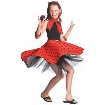Rock 'N' Roll Skirt. Red Fancy Dress Costume