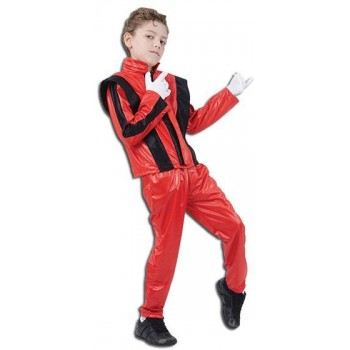 Superstar. Red Jacket/Trousers Fancy Dress Costume