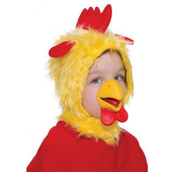 Chicken Set. Childs (Hood + Nose) (Animals Fancy Dress Disguises)