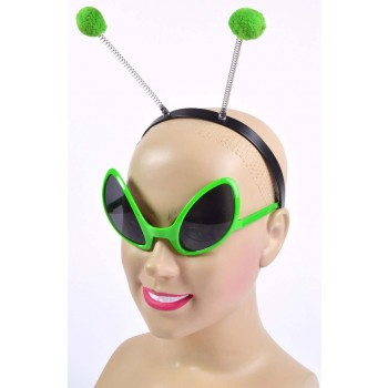 Adult Green (Alien Set) Fancy Dress Costume