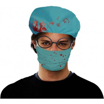 Adult Turquoise (Surgeon Set Bloody) Fancy Dress Costume