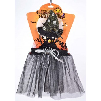 Childs Black/Silver (Witch Tutu Black/Silver) Fancy Dress Costume
