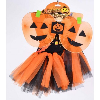 Childs Orange (Pumpkin Tutu) Fancy Dress Costume