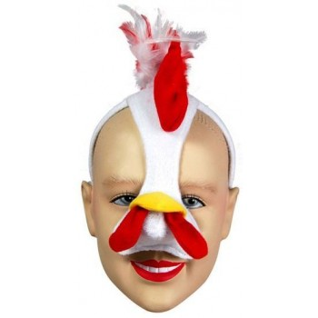 Chicken Mask On H'Band & Sound (Animals Fancy Dress Masks)