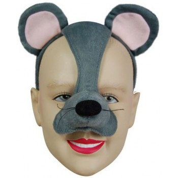 Mouse Mask On Headband & Sound (Animals Fancy Dress Masks)