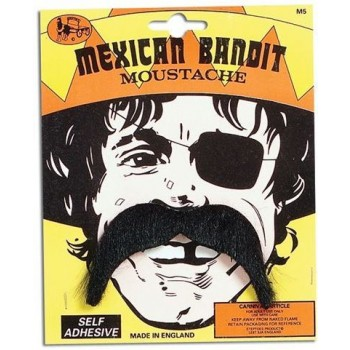 Mexican Bandit Tash (Cultures , Cowboys/Native Americans Fancy Dress Facial Hair)