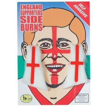England Sideburns (Cultures Fancy Dress Facial Hair)
