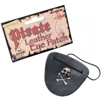 Pirate Eye Patch Leather (Pirates Fancy Dress Disguises)