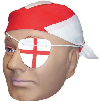 England Bandana & Eye Patch (Cultures Fancy Dress)