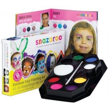 Snazaroo Rainbow Make Up Kit (Clowns Fancy Dress Face Paint)
