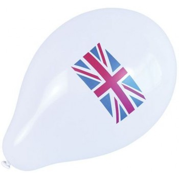 Union Jack Baloons (10 In Pkt) (Fancy Dress)