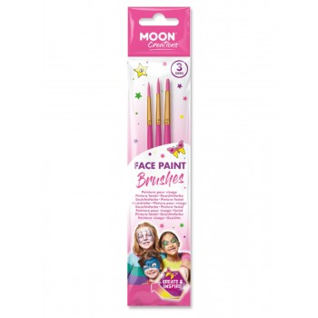 Moon Creations Face Paint Brushes Pink