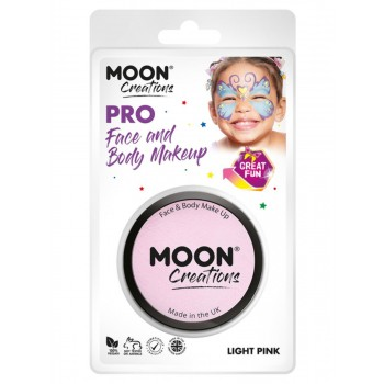 Moon Creations Pro Face Paint Cake Pot Light Pink
