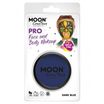 Moon Creations Pro Face Paint Cake Pot Dark Blue