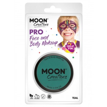 Moon Creations Pro Face Paint Cake Pot Teal