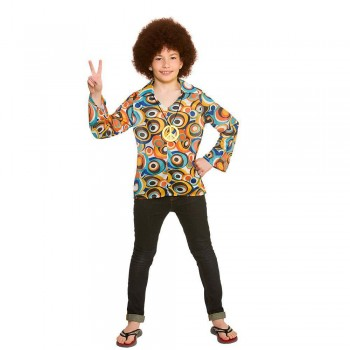 Retro Hippie Shirt Fancy Dress Costume (1960)