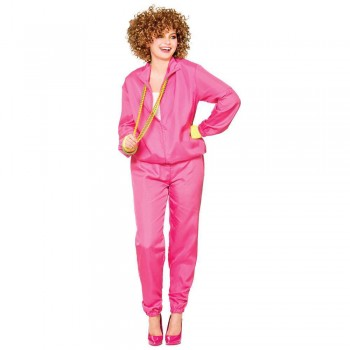 Ladies 80's Shell Suit - Pink O Costume (1980)