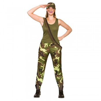 Army Girl Fancy Dress Costume