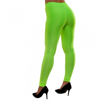 80's Neon Leggings - Green M/L Costume (1980)