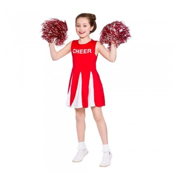 Girls Cheerleader  - Red Fancy Dress Costume