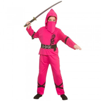 Power Ninja - Pink Fancy Dress Costume