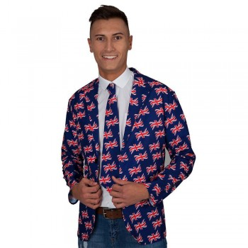 Great Britain Jacket & Tie  Fancy Dress Costume