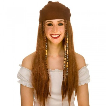 Deluxe Pirate Wig & Bandana Wigs