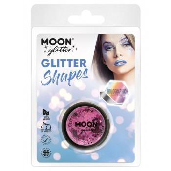 Moon Glitter Holographic Glitter Shapes Pink