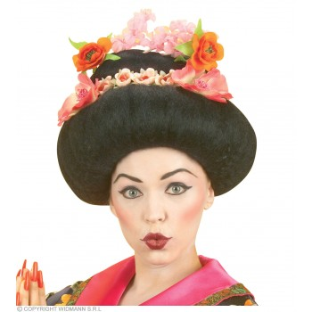 Geisha Wig W/Flowers - Fancy Dress
