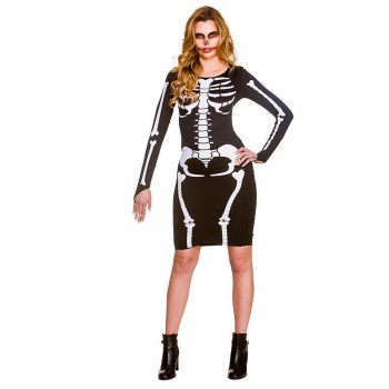 Skeleton Dress Fancy Dress Costume