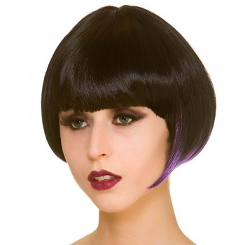 Witch Short Bob - Black / Purple Wigs