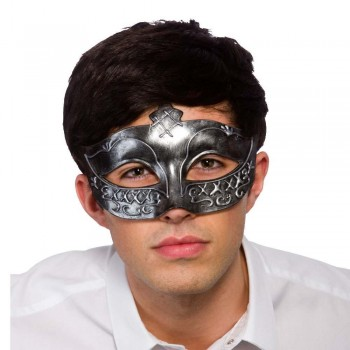 Gladiator Eye Mask - Antique Silver Masks