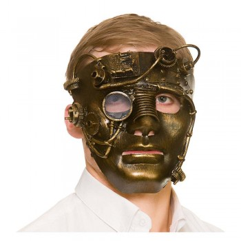 Deluxe Robot Steampunk Mask Fancy Dress