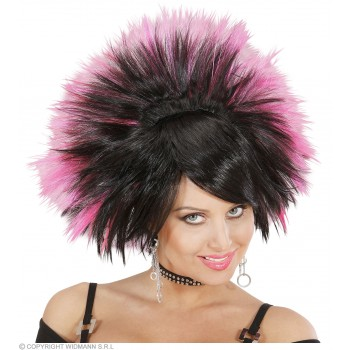 Rock Princess Wig - Black/Pink - Fancy Dress