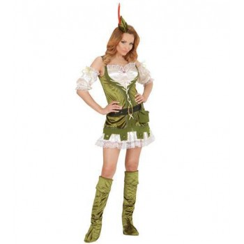 "Ladies Robin ""Wood"" Medieval Fancy Dress Costume"