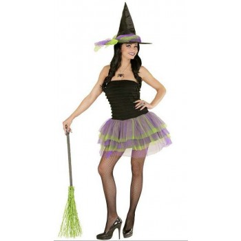 Ladies Sparkling Witch Halloween Fancy Dress Costume