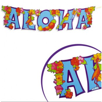 Jointed Aloha Garland 80x20cm Party Decoration Fancy Dress Accessory