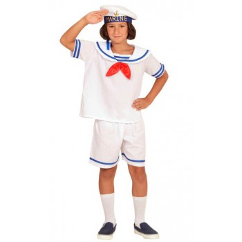 Childs White Retro Sailor Fancy Dress Costume