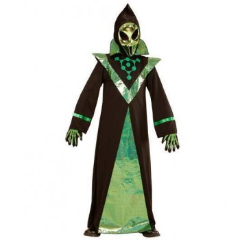 Childs Sci-Fi Alien Lord Fancy Dress Costume