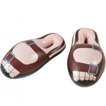 Adults Inflatable Monk/Hippy Sandals(56Cm)Fancy Dress Accessory