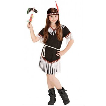 Cute Black Native Indian Girl Fancy Dress Costume