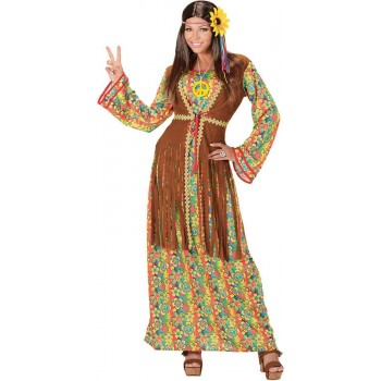 Ladies 1960's Hippie Woman Fancy Dress Costume