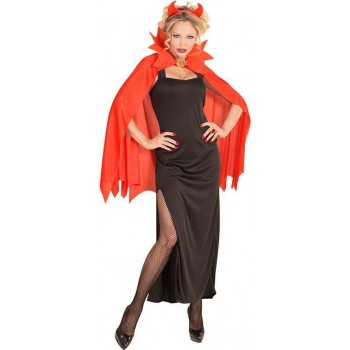 Ladies Red Flame Devil Girl Halloween Fancy Dress Costume