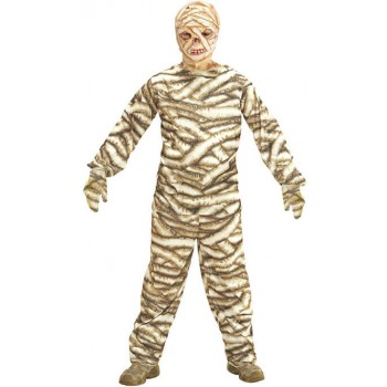 Boys Creepy Mummy Halloween Fancy Dress Costume