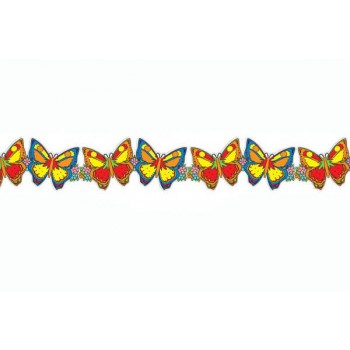 Hawaiian Butterfly Garland 3m Fancy Dress Accessory