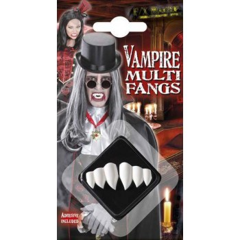 Adult Vampire Fangs Kit With Adhesive Halloween Accessory