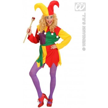 Jolly Jester Fancy Dress Costume Ladies (Clowns)